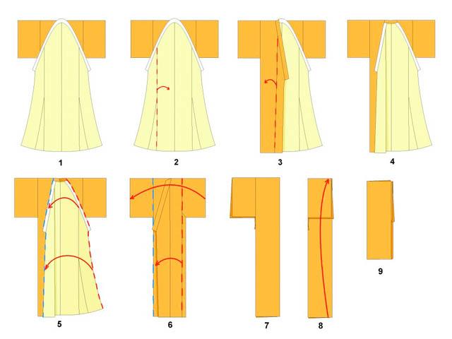 como doblar kimono