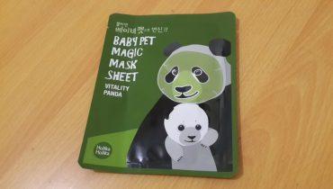 REVIEW:  COSMETICA COREANA BABY PET MAGIC MASK VITALITY PANDA DE HOLIKA HOLIKA
