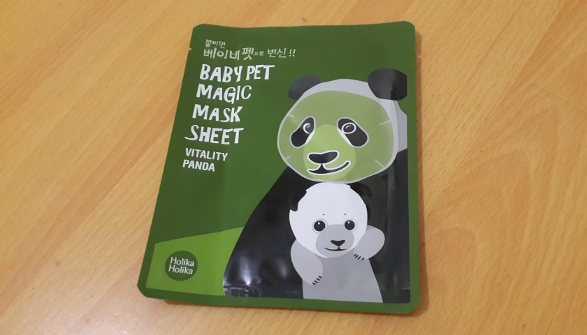 REVIEW:  COSMETICA COREANA BABY PET MAGIC MASK VITALITY PANDA DE HOLIKA HOLIKA